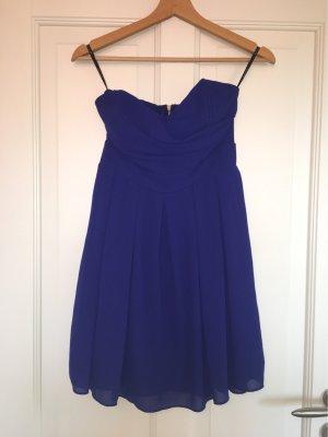 Bandeau Kleid 34 blau