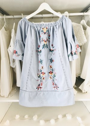 Bandeau Dress azure-blue