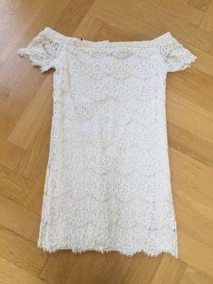 Bandeau Kleid aus weißer spitze