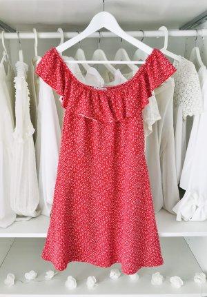 Easy Wear Abito a fascia bianco-rosso