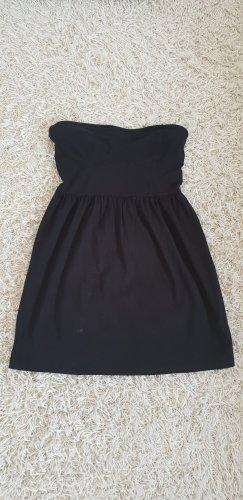 H&M Divided Bandeau Dress black