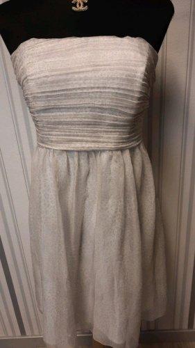 Bandeau Kleid Größe M in creme-weiß