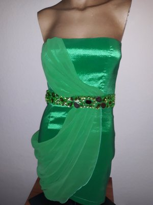 Bandeau Kleid grün Partykleid Ballkleid 36