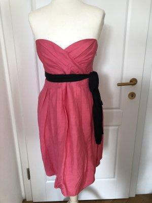 Bandeau Kleid Leinen rosa