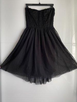Only Sukienka z dekoltem typu bandeau czarny