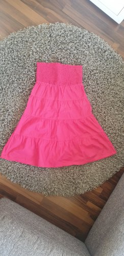 Bandeau Kleid pink