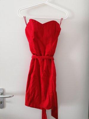 Bandeau Kleid rot