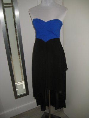 Bandeau Kleid schwarz blau Corsage Gr.XS