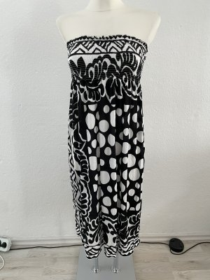 Bandeau Dress black-white