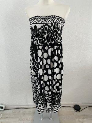 Bandeau Kleid schwarz weiß gr 36