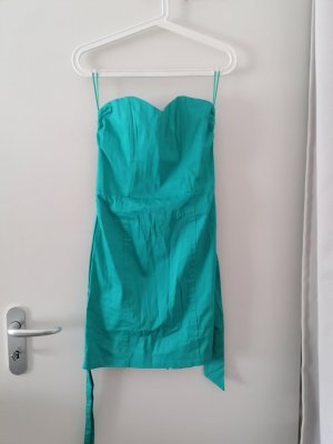H&M Robe bustier turquoise