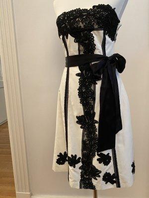 Bandeau Kleid von Coast schwarz weiß 1x getragen