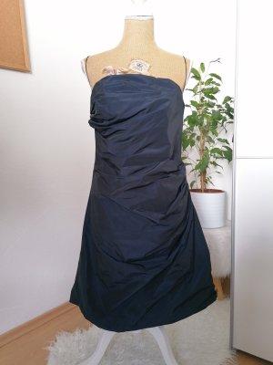 Marie Blanc Bandeau Dress dark blue