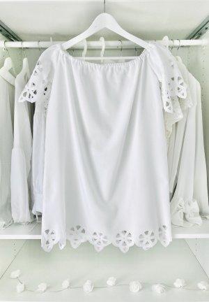 Bandeau Lochmuster Kleid