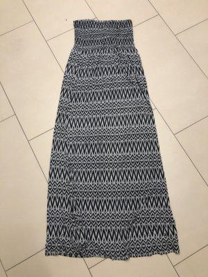 Vestido bandeau negro-blanco
