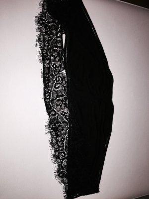 Zara Top z dekoltem typu bandeau czarny