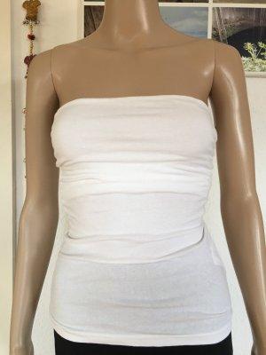 H&M Basic Bandeau Top white