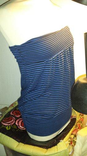 Bandeau Top schwarz/blau geringelt