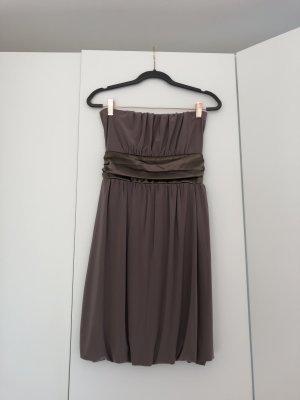 Bandeau Dress grey brown