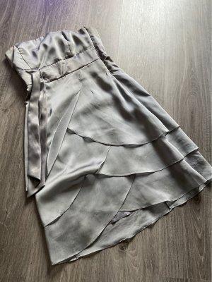 Marie Blanc Bandeau Dress silver-colored