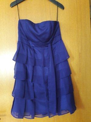Fashionart Sukienka z baskinką ciemny fiolet