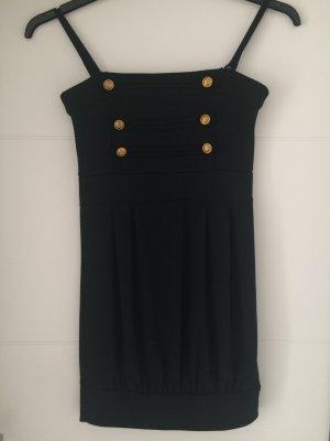 Melrose Sukienka z dekoltem typu bandeau czarny Poliester