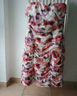 H&M Sukienka z dekoltem typu bandeau Wielokolorowy