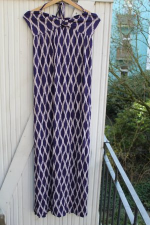 Accessoires Sukienka maxi ciemny fiolet-biały Wiskoza