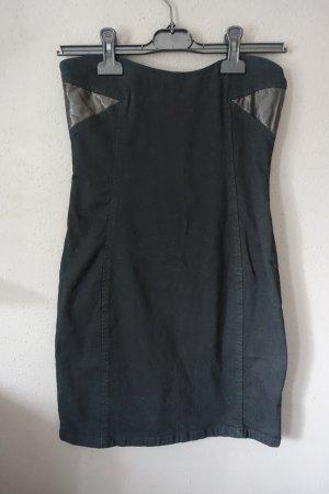 Bandeaukleid, Kleid, trägerlos, Denim, Jeans, Jeanskleid, schwarz, Cheap Monday, wie neu!