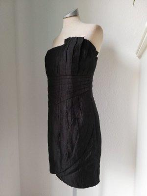 Bandeaukleid Minikleid Kleid kurz mini schwarz Gr. 40 M L trägerlos Cocktailkleid