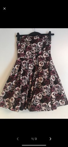 H&M Bandeau Dress black-pink