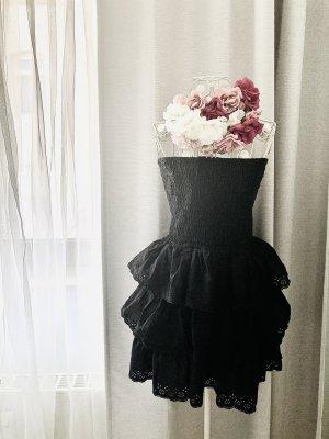 Sukienka z dekoltem typu bandeau czarny