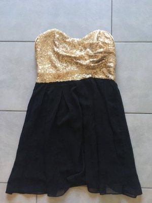 Asos Bandeau Dress gold-colored-black