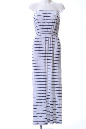 Ocean Club Bandeaukleid weiß-schwarz Streifenmuster Casual-Look