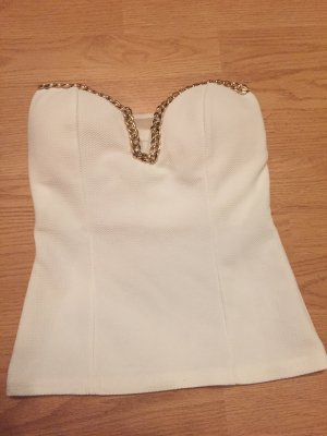 Bandeau Top white-gold-colored