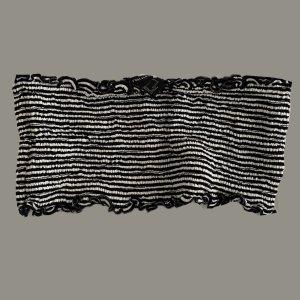 Forever 21 Haut bandeau noir-blanc