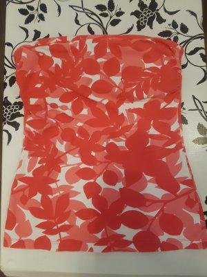 H&M Top z dekoltem typu bandeau Wielokolorowy Bawełna