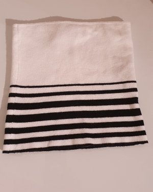 Pull & Bear Haut bandeau blanc-noir