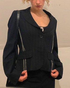 Bandolera Short Blazer black-white