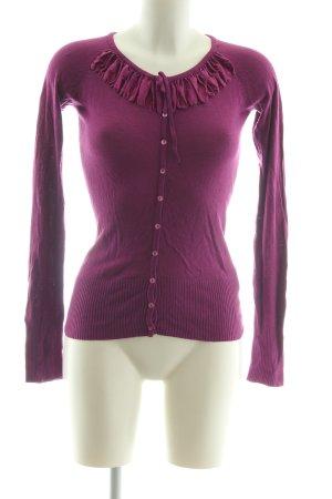 Bandolera Cardigan lilac casual look