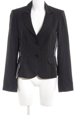 Bandolera Jersey Blazer black-white business style