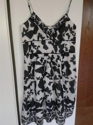 Bandolera Pinafore dress white-black cotton