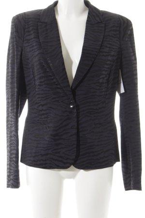 Bandolera Short Blazer dark blue-black animal pattern elegant