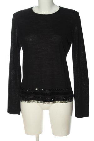 Bandolera Longsleeve black casual look