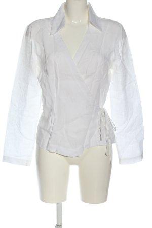 Bandolera Blouse en lin blanc style d'affaires
