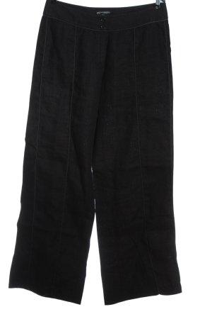 Bandolera Lniane spodnie czarny W stylu casual