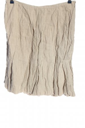 Bandolera Linen Skirt natural white striped pattern casual look