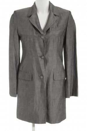 Bandolera Blazer long gris clair Motif de tissage style d'affaires