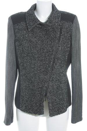 Bandolera Long Blazer black-natural white flecked business style