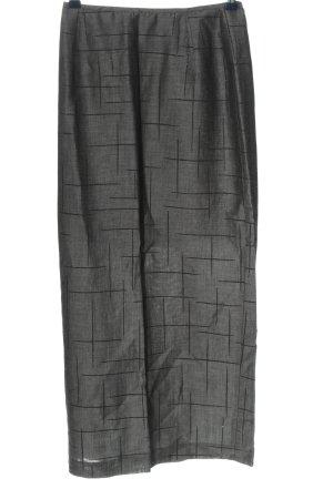 Bandolera Maxi Skirt light grey-black allover print casual look